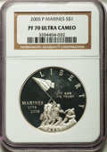 Modern Issues, 2005-P $1 Marine Corps PR70 Ultra Cameo NGC. NGC Census: (2929).PCGS Population (785). Numismedia Wsl. Price for problem ...