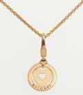 Luxury Accessories:Accessories, Bvlgari 18k Gold Heart Pendant Necklace. ...