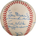 Autographs:Baseballs, 1948 St. Louis Cardinals Partial Team Signed Baseball from The Stan Musial Collection....