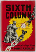Books:Science Fiction & Fantasy, Robert A. Heinlein. Sixth Column. Gnome Press, 1949. First edition. Publisher's cloth and dust jacket. Front hin...