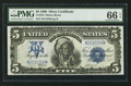 Large Size:Silver Certificates, Fr. 279 $5 1899 Silver Certificate PMG Gem Uncirculated 66 EPQ.....
