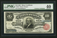 Fr. 299 $10 1891 Silver Certificate Courtesy Autograph PMG Extremely Fine 40