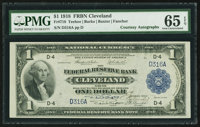 Fr. 718 $1 1918 Federal Reserve Bank Note Double Courtesy Autograph PMG Gem Uncirculated 65 EPQ