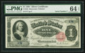 Large Size:Silver Certificates, Fr. 222 $1 1891 Silver Certificate Courtesy Autograph PMG Choice Uncirculated 64 EPQ.. ...