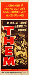 "Movie Posters:Science Fiction, Them! (Warner Brothers, 1954). Insert (14"" X 36"").. ..."
