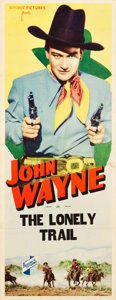 """Movie Posters:Western, The Lonely Trail (Republic, 1936). Stock Insert (14"""" X 36"""").. ..."""