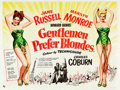 "Movie Posters:Musical, Gentlemen Prefer Blondes (20th Century Fox, 1953). British Quad (30"" X 40"").. ..."