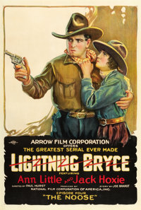"Lightning Bryce (Arrow Film, 1919). One Sheet (27"" X 41""). Episode 4 -- ""The Noose."""