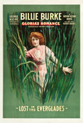 "Movie Posters:Serial, Gloria's Romance (K-E-S-E Service, 1916). One Sheet (27"" X 41"").""Lost in the Everglades."". ..."