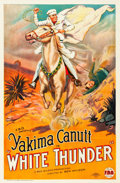 "Movie Posters:Western, White Thunder (FBO, 1925). One Sheet (27"" X 41"") Style A.. ..."