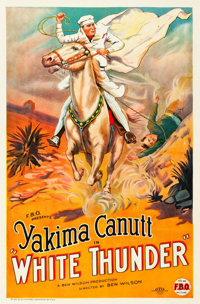 "White Thunder (FBO, 1925). One Sheet (27"" X 41"") Style A"