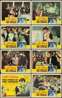 "The Pride of the Yankees (RKO, 1942). Lobby Card Set of 8 (11"" X 14""). ... (Total: 8 Items)"