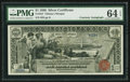 Large Size:Silver Certificates, Fr. 224 $1 1896 Silver Certificate Courtesy Autograph PMG Choice Uncirculated 64 EPQ.. ...