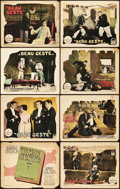 "Movie Posters:Adventure, Beau Geste (Paramount, 1926). Lobby Card Set of 8 (11"" X 14"").. ... (Total: 8 Items)"