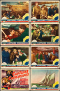 "Movie Posters:Adventure, Captains Courageous (MGM, 1937). Lobby Card Set of 8 (11"" X 14"")..... (Total: 8 Items)"