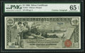 Large Size:Silver Certificates, Fr. 224 $1 1896 Silver Certificate Courtesy Autograph PMG Gem Uncirculated 65 EPQ.. ...