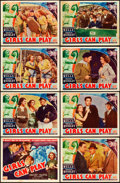 """Movie Posters:Drama, Girls Can Play (Columbia, 1937). Lobby Card Set of 8 (11"""" X 14"""")..... (Total: 8 Items)"""