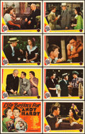 "Movie Posters:Comedy, Life Begins for Andy Hardy (MGM, 1941). Lobby Card Set of 8 (11"" X14"").. ... (Total: 8 Items)"
