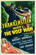 "Movie Posters:Horror, Frankenstein Meets the Wolf Man (Universal, 1943). One Sheet (27"" X40.5"").. ..."