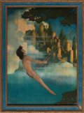 "Art:Illustration Art - Mainstream, Maxfield Parrish. ""Dinky Bird"" Color Print. Measures approximately10 x 14 inches. Housed in the original issue Craftsman-st..."