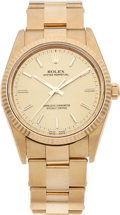 Timepieces:Wristwatch, No Shipping into the U.S. - Rolex Ref. 14238 Oyster PerpetualGent's Gold Wristwatch, circa 2001. ...
