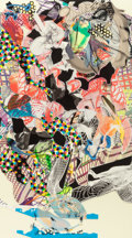 Prints, FRANK STELLA (American, b. 1936). Stranz (from Imaginary Places III), 1999. Screenprint in colors. 74-5/8 x 41-5/8 inche...