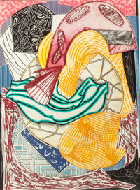 FRANK STELLA (American, b. 1936) The Cabin, Ahab and Starbuck (from Moby Dick Dome Series), 1991 Etc