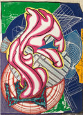 Prints:Contemporary, FRANK STELLA (American, b. 1936). Stubb & Flask kill a rightwhale (Dome) (from Moby Dick Domes), 1992. Relief-printed e...