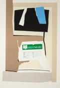 Fine Art - Work on Paper:Print, ROBERT MOTHERWELL (American, 1915-1991). America - La FranceVariations IX, 1983-84. Color lithograph and collage. 28 x ...