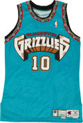 Basketball Collectibles:Uniforms, 1999-2000 Mike Bibby Game Worn Vancouver Grizzlies Jersey....