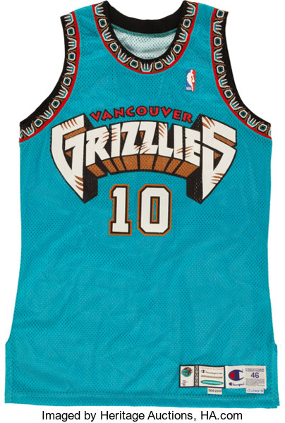 365f7751a18 1999-2000 Mike Bibby Game Worn Vancouver Grizzlies Jersey....