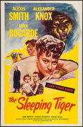 "Movie Posters:Drama, The Sleeping Tiger (Astor Pictures, 1954). One Sheet (27"" X 41""). Drama.. ..."