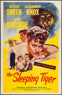 "The Sleeping Tiger (Astor Pictures, 1954). One Sheet (27"" X 41""). Drama"