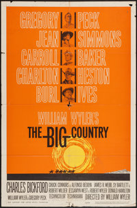 """The Big Country (United Artists, 1958). One Sheet (27"""" X 41""""). Western"""