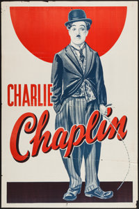 """Charlie Chaplin (Unknown, Late 1930s). Stock One Sheet (27"""" X 41""""). Comedy"""