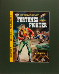 [Original Western Pulp Art]. Original Watercolor/Gouache Painting for the Cover of Fortunes Fighter