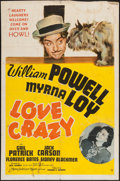 "Movie Posters:Comedy, Love Crazy (MGM, 1941). One Sheet (27"" X 41"") Style C. Comedy.. ..."