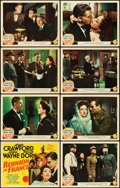 "Movie Posters:War, Reunion in France (MGM, 1942). Lobby Card Set of 8 (11"" X 14"")..... (Total: 8 Items)"