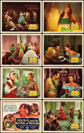 """Movie Posters:Drama, Anna and the King of Siam (20th Century Fox, 1946). Lobby Card Set of 8 (11"""" X 14"""").. ... (Total: 8 Items)"""