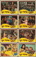 "Movie Posters:Comedy, Too Many Girls (RKO, 1940). Lobby Card Set of 8 (11"" X 14"").Comedy.. ... (Total: 8 Items)"