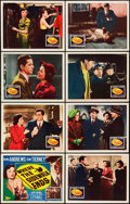 """Movie Posters:Film Noir, Where the Sidewalk Ends (20th Century Fox, 1950). Lobby Card Set of 8 (11"""" X 14"""").. ... (Total: 8 Items)"""