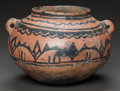 American Indian Art:Pottery, A SAN ILDEFONSO BLACK-ON-RED JAR. c. 1890...
