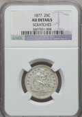 Seated Quarters: , 1877 25C -- Scratches -- NGC Details. AU. NGC Census: (6/333). PCGSPopulation (8/350). Mintage: 10,911,710. Numismedia Wsl...