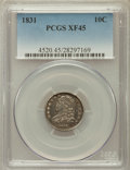 Bust Dimes: , 1831 10C XF45 PCGS. PCGS Population (27/250). NGC Census: (11/264).Mintage: 771,350. Numismedia Wsl. Price for problem fre...