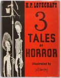 Books:Horror & Supernatural, H. P. Lovecraft. 3 Tales of Horror. [Sauk City]: ArkhamHouse, [1967]. First edition of this collection. Quarto. 134...