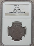 Large Cents, 1804 1C AG3 NGC. S-266c, B-1, R.2....