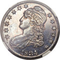 Proof Bust Half Dollars, 1834 50C PR63 NGC. O-106, R.8 as a proof....