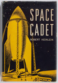 """Books:Science Fiction & Fantasy, Robert A. Heinlein. INSCRIBED Space Cadet. New York: Charles Scribner's Sons, 1952. Later impression, lacking """"A"""". ..."""