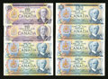 Canadian Currency: , BC-49e $10 1971 Two Examples. BC-53a $5 1979 Two Examples. BC-53b$5 1979 Four Examples. ... (Total: 8 notes)