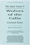 Books:Horror & Supernatural, Stephen King. The Dark Tower V: Wolves of the Calla.Scribner/Grant, 2003. Uncorrected proof of the first trade edit...